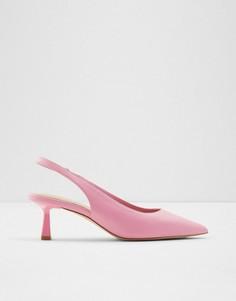 Розовые туфли-лодочки на каблуке с ремешком на пятке ALDO Peranga-Розовый цвет