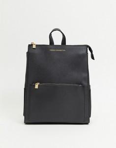 Черный рюкзак на молнии в стиле oversized French Connection-Черный цвет
