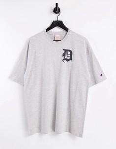 Серая футболка Champion Reverse Weave Detroit Tigers-Серый