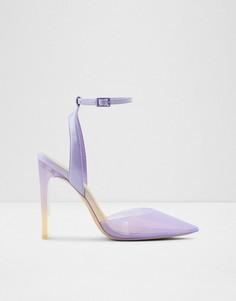 Прозрачные сиреневые туфли-лодочки из двух частей ALDO Aradda-Фиолетовый цвет