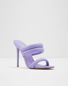 Фиолетовые босоножки на каблуке с двумя мягкими ремешками ALDO Abardolith-Фиолетовый цвет