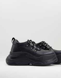 Черные кроссовки на толстой подошве Lamoda-Черный