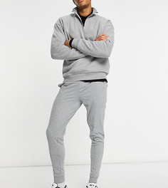 Серые меланжевые джоггеры скинни ASOS DESIGN-Серый
