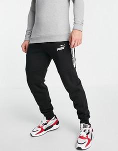 Черные трикотажные штаны с логотипом Puma Amplified-Черный цвет