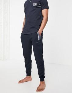 Темно-синие джоггеры с контрастными вставками BOSS Bodywear-Темно-синий