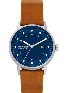 Швейцарские наручные мужские часы Skagen SKW6739. Коллекция Leather