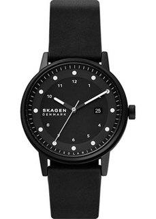 Швейцарские наручные мужские часы Skagen SKW6740. Коллекция Leather