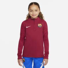Футболка для футбольного тренинга для школьников FC Barcelona Strike - Красный Nike