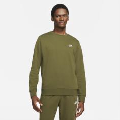 Мужской свитшот из ткани френч терри Nike Sportswear Club - Зеленый