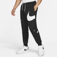 Мужские брюки с полуначесом Nike Sportswear Swoosh - Черный