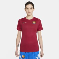 Женская игровая футболка с коротким рукавом Nike Dri-FIT FC Barcelona Strike - Красный