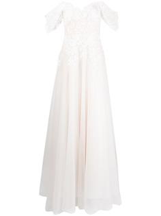 Tadashi Shoji свадебное платье Pierce с цветочной вышивкой