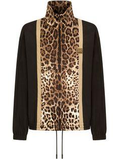 Dolce & Gabbana спортивная куртка с леопардовым принтом