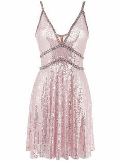 Jenny Packham платье мини с кристаллами и пайетками