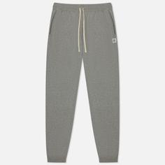 Мужские брюки Reigning Champ Midweight Terry Slim, цвет серый, размер XL