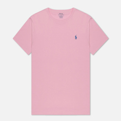 Мужская футболка Polo Ralph Lauren Classic Crew Neck 26/1 Jersey, цвет розовый, размер S
