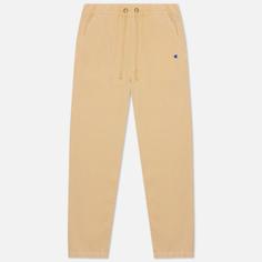 Мужские брюки Champion Reverse Weave Straight Leg Premium Cotton Track, цвет бежевый, размер S