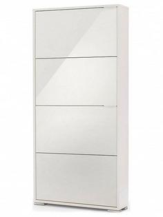 Обувница Vental Вива-4LW White-White стекло