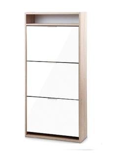 Обувница Vental К-3 Фасады МДФ Дуб Сонома-White Gloss
