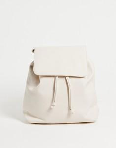 Кремовый классический рюкзак French Connection-Белый