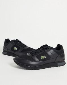 Черные кроссовки Lacoste Partner Piste Runner-Черный цвет
