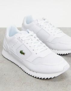 Белые кроссовки Lacoste Partner Piste Runner-Белый