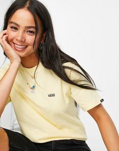 Желтая футболка с маленьким логотипом Vans-Желтый