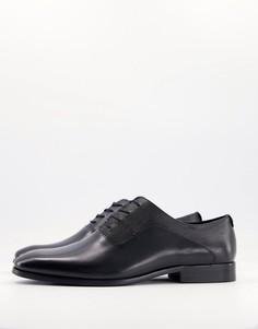 Черные туфли-оксфорды на шнуровке Aldo Elaerien-Черный цвет