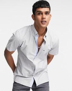 Рубашка в полоску темно-синего цвета с короткими рукавами Tommy Hilfiger-Темно-синий