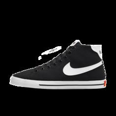 Женские кроссовки Nike Court Legacy Canvas Mid - Черный