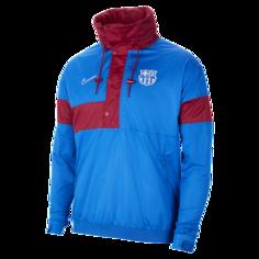 Мужская футбольная куртка-анорак FC Barcelona - Синий Nike