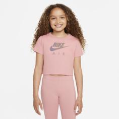 Укороченная футболка для девочек школьного возраста Nike Sportswear - Розовый