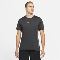 Мужская футболка с коротким рукавом Nike Pro Dri-FIT Burnout - Черный