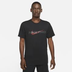 Мужская футболка с графикой Nike Pro Dri-FIT - Черный