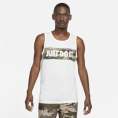 Мужская футболка с графикой и камуфляжным принтом для тренинга Nike Dri-FIT - Белый