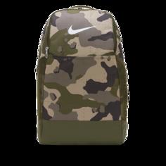 Рюкзак для тренинга с камуфляжным принтом Nike Brasilia (средний размер) - Коричневый