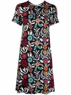 La Doublej платье из джерси с цветочным принтом