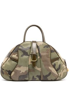 Christian Dior сумка Camouflage Saddle pre-owned