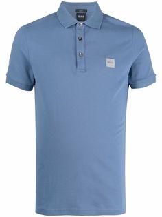 Boss Hugo Boss рубашка поло с нашивкой-логотипом