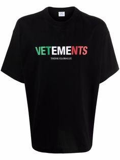 VETEMENTS футболка с логотипом