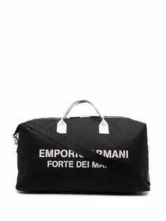 Emporio Armani дорожная сумка Saint Tropez с логотипом