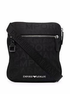 Emporio Armani сумка на плечо с монограммой