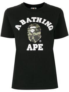 A BATHING APE® футболка с принтом Camo College Bape