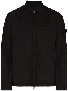 Stone Island SI GHOST ZIP OVER LS SHT BLK