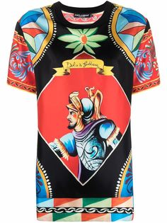 Dolce & Gabbana футболка с принтом Carretto