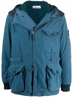 Stone Island куртка с капюшоном и карманами карго