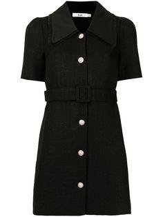 b+ab твидовое платье-рубашка с поясом