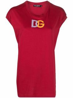 Dolce & Gabbana футболка с нашивкой-логотипом