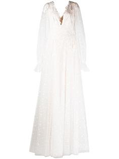 Tadashi Shoji свадебное платье Gretel с узором в горох