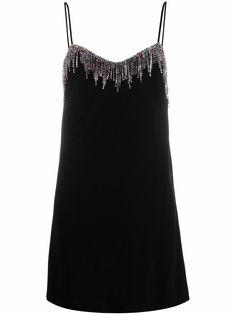 Pinko платье мини с бахромой из кристаллов